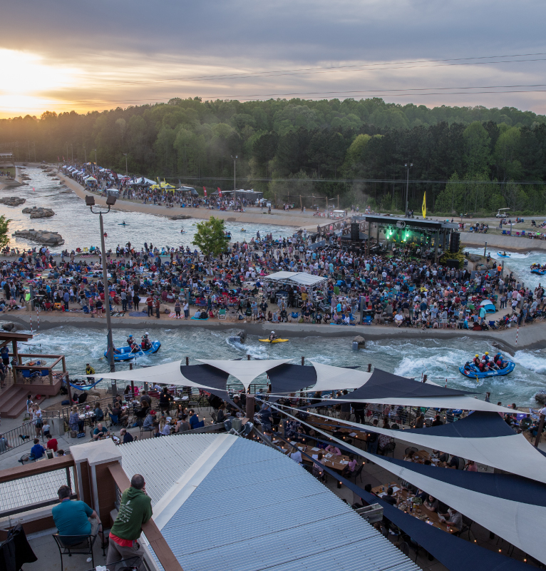 us_national_whitewater_center_sunset_stage_whitewater_channels_tuck_fest_from_above