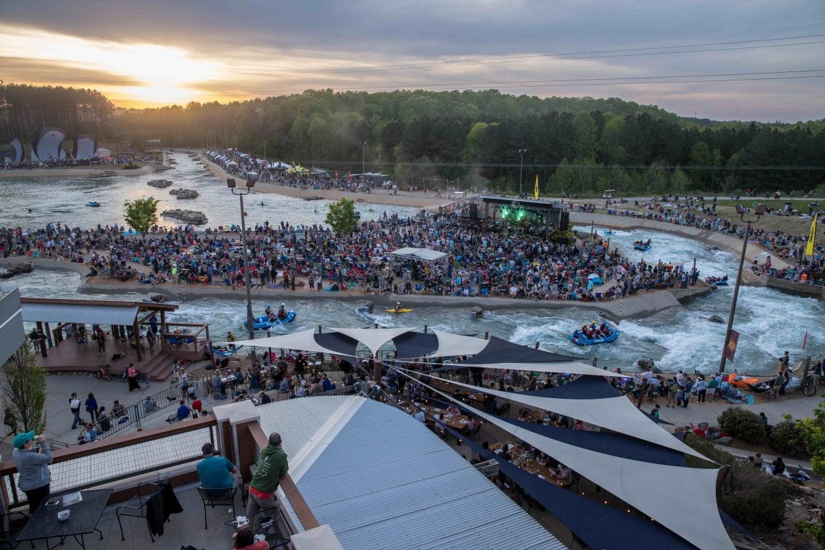 tuck_fest_view_from_terrace_access_live_music_sunset_at_U_S_national_whitewater_center